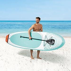 EASYmaxx - MAXXMEE Stand-Up-Board I Need Vitamin Sea o MY Private Beach | Incluye Bolsa de Transporte, Kit de reparación y Bomba de Aire, con ...