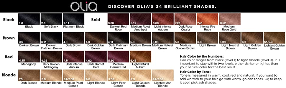 Amazon Com Garnier Olia Ammonia Free Permanent Hair Color 100 Percent Gray Coverage Packaging May Vary 3 0 Darkest Brown Hair Dye Pack Of 1 Chemical Hair Dyes Beauty