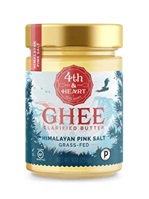 fourth and heart 4th grass fed pasture raised ghee butter clarified himalayan pink salt salted