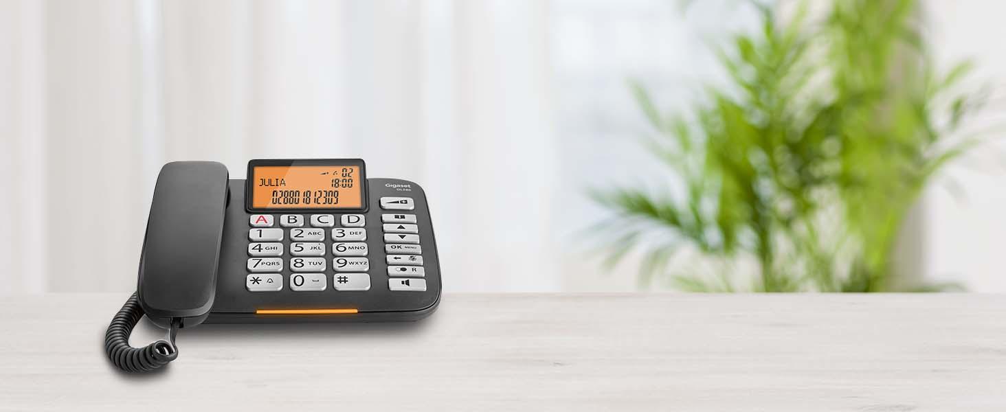 Gigaset Dl580 Schnurgebundenes Senioren Telefon Elektronik