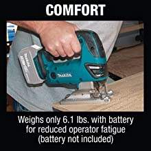 comfort weight pounds battery reduced operator fatigue not included bare tool only