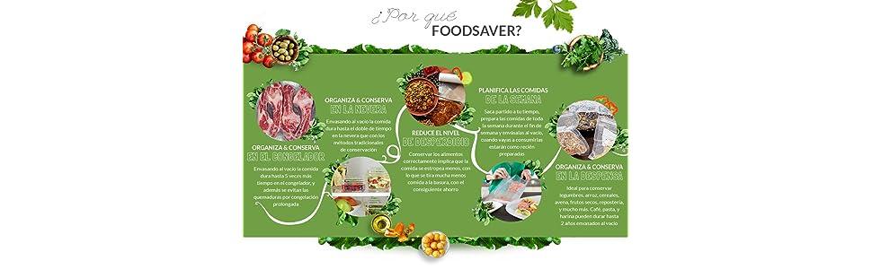 FoodSaver FFS004X - Envasadora al vacío con portarrollos: Amazon ...