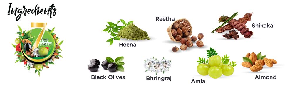 Ayurvedic shampoo;herbal shampoo;amla;almond; vatika shampoo