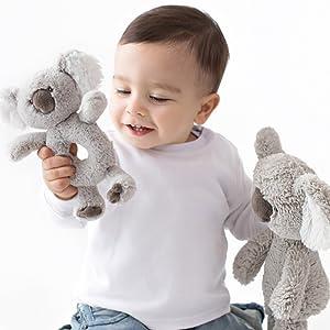 little boy koala rattle plush stuffed animal gund