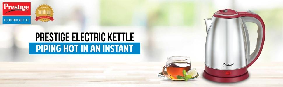 Prestige 1.5 Litre Kettle 1500-watts, Maroon