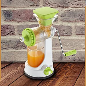 Click to open expanded view Ganesh Plastic Fruit and Vegetable Juicer, Green