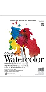 Strathmore 440-12 STR-440-12 Sheet No.140 Watercolor Cp Tape Bound, 6 by 12, 6x12