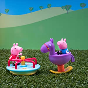 Amazon Com Peppa Pig And George Day At The Park Playtime Set