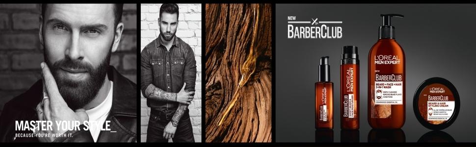 l'oreal paris men expert barber club skincare beard grooming
