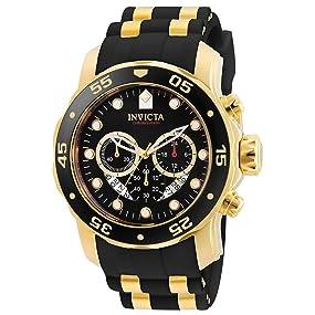 e5d499c094f Amazon.com  Invicta Men s 6981 Pro Diver Analog Swiss Chronograph ...