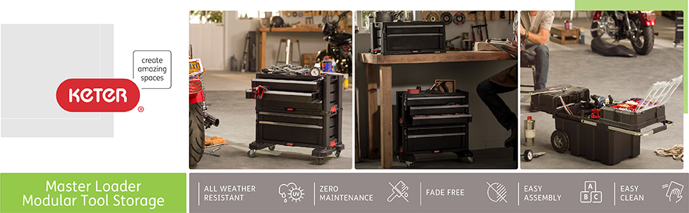 Keter Tool Storage Tool box toolbox cart drawers work table workbench products