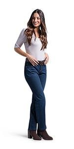 LEE Women's Tall Instantly Slims Classic Relaxed Fit Monroe Straight Leg Jean