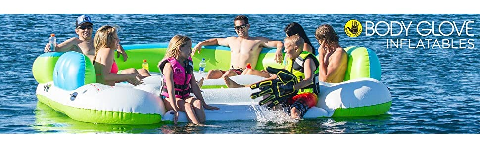 Amazon.com: Body Glove Paradise 6 Inflatable Aqua Lounge