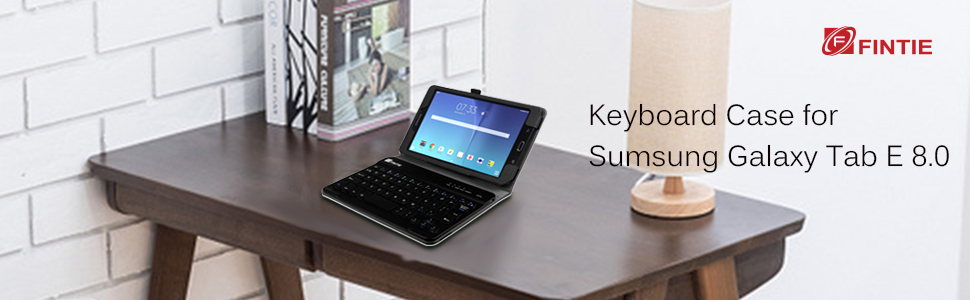 buy popular da052 d7ad3 Fintie Keyboard Case for Samsung Galaxy Tab E 8.0, Slim Fit Folio PU  Leather Case with Detachable Magnetical Bluetooth Keyboard for Galaxy Tab E  32GB ...