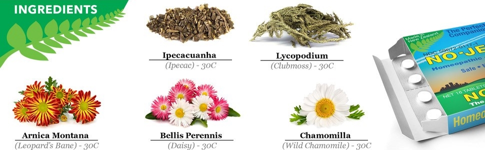 natural ingredients chamomile chamomille ipecacunha lycopodium bellis no jet lag tablet pills travel