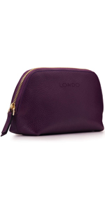 Otto Angelino Genuine Leather Makeup Bag Cosmetic Pouch Travel Organizer Toiletry Clutch