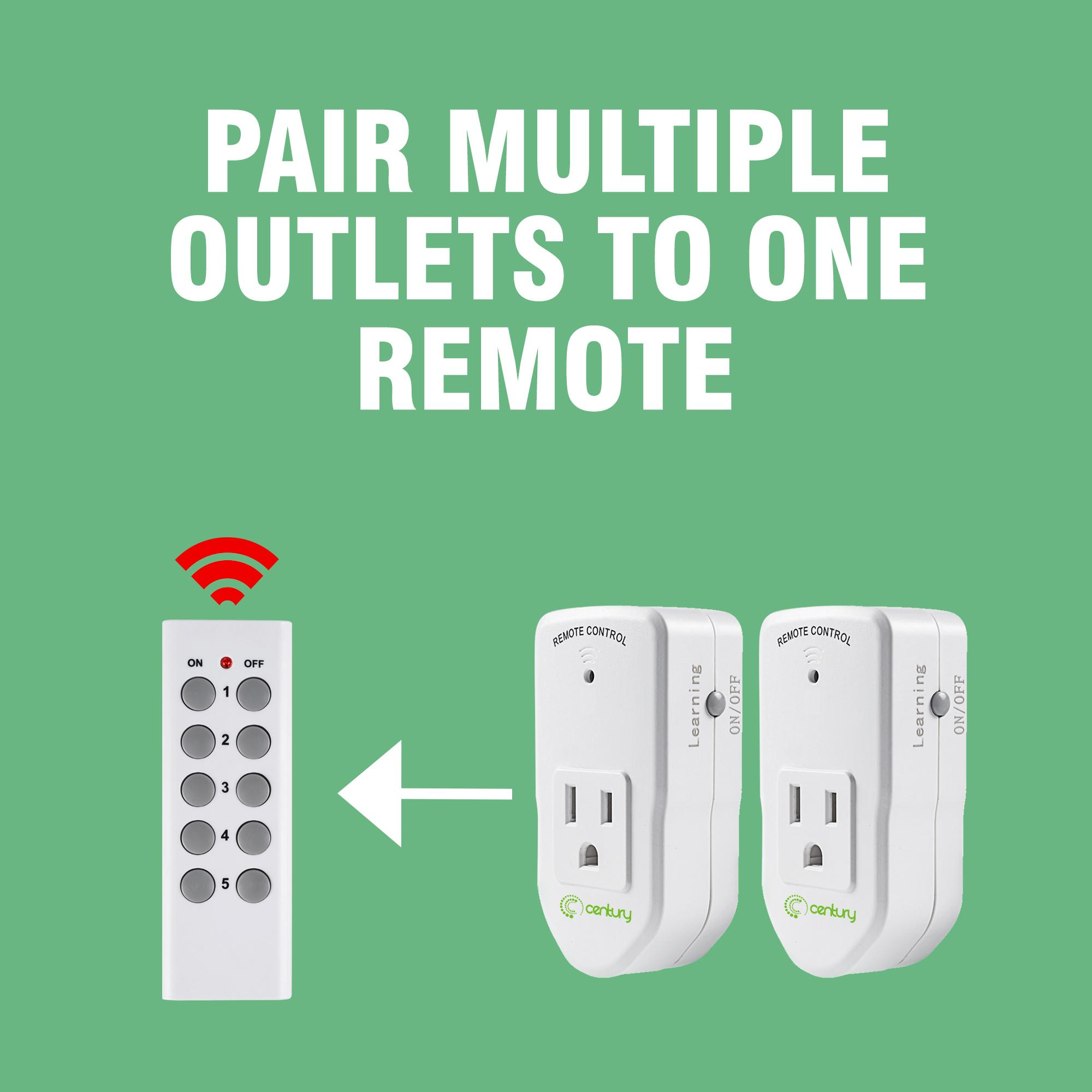 Wireless Remote Control Switch For 5 Lights And 2 Fansremote Kedsumr 1 Way On Off Digital 110v Century Electrical Outlet
