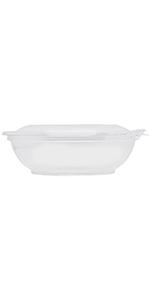 Karat 16oz PET Tamper Resistant Hinged Salad Bowl with Dome Lid