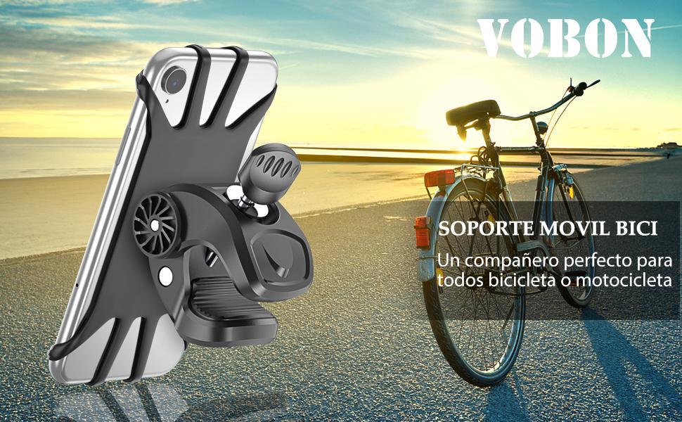 Vobon Soporte Móvil Bicicleta, Soporte Móvil Bici 360 Grados Anti ...