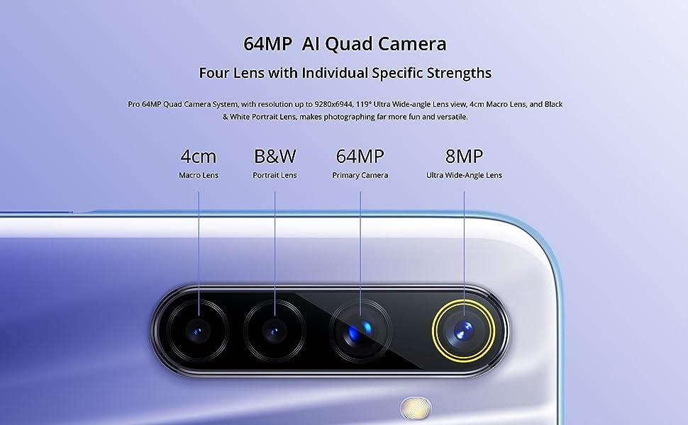 64MP, AI, Quad Camera