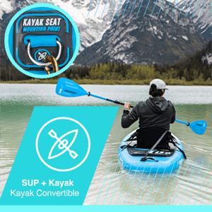 Paquete de Sup Bluefin Cruise | Tabla de Paddle Surf Hinchable | Remo de Fibra de Vidrio | Kit de Conversión a Kayak | Accesorios Completos | 5 Años ...