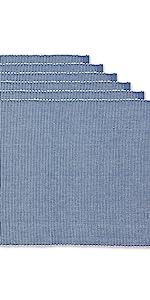 Placemats, Woven placemats sets, set of 6 woven blue placemats, farmhouse placemats,