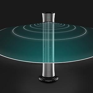 Cecotec Ventilador de Torre EnergySilence 7090 Skyline. 30 (76cm) de Altura, Oscilante, Motor de Cobre, 3 ...