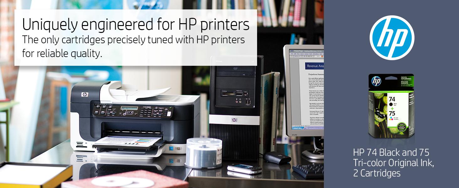 Amazon.com: HP 74 | 2 Ink Cartridges | Black, Tri-color ...