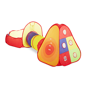 Bällebad Set mit Tunnel 300 Bälle Indoor Outdoor Pop-Up-Kinderspielzelt 303 tlg