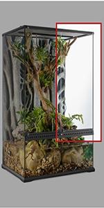 puerta para paludario;terrarios de vidrio;paludario exoterra;reptiles