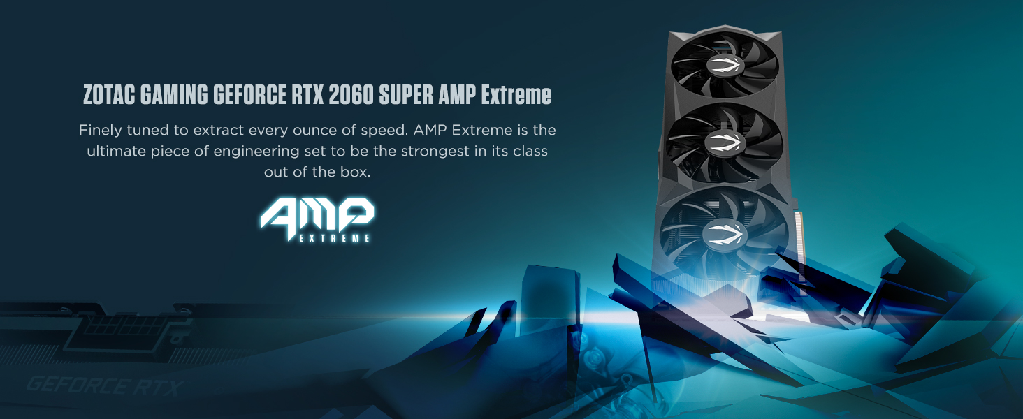 ZOTAC GAMING GeForce RTX 2060 SUPER AMP Extreme 8GB GDDR6 256-bit 14Gbps Gaming Graphics Card, IceStorm 2.0, Extreme Overclock, Spectra Lighting, ...