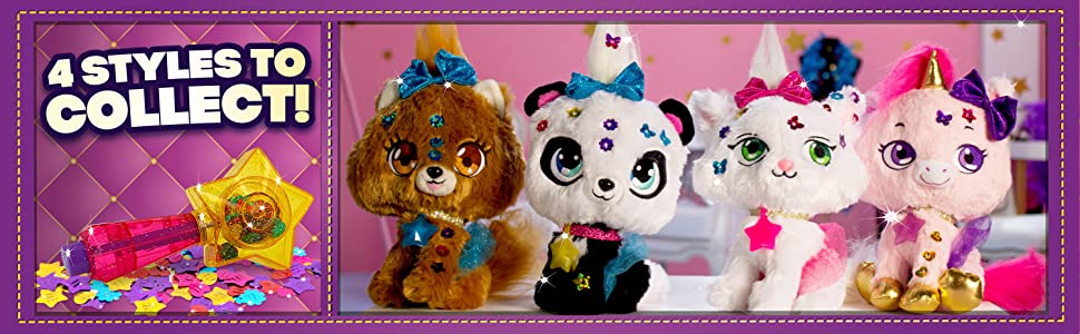 Shimmer Stars Plush Pet You Can Decorate Jelly Bean The Cat Kitten  SHIMMERIZE