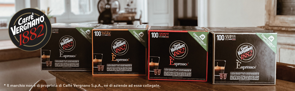 caffè vergnano capsule compatibili compostabili nespresso