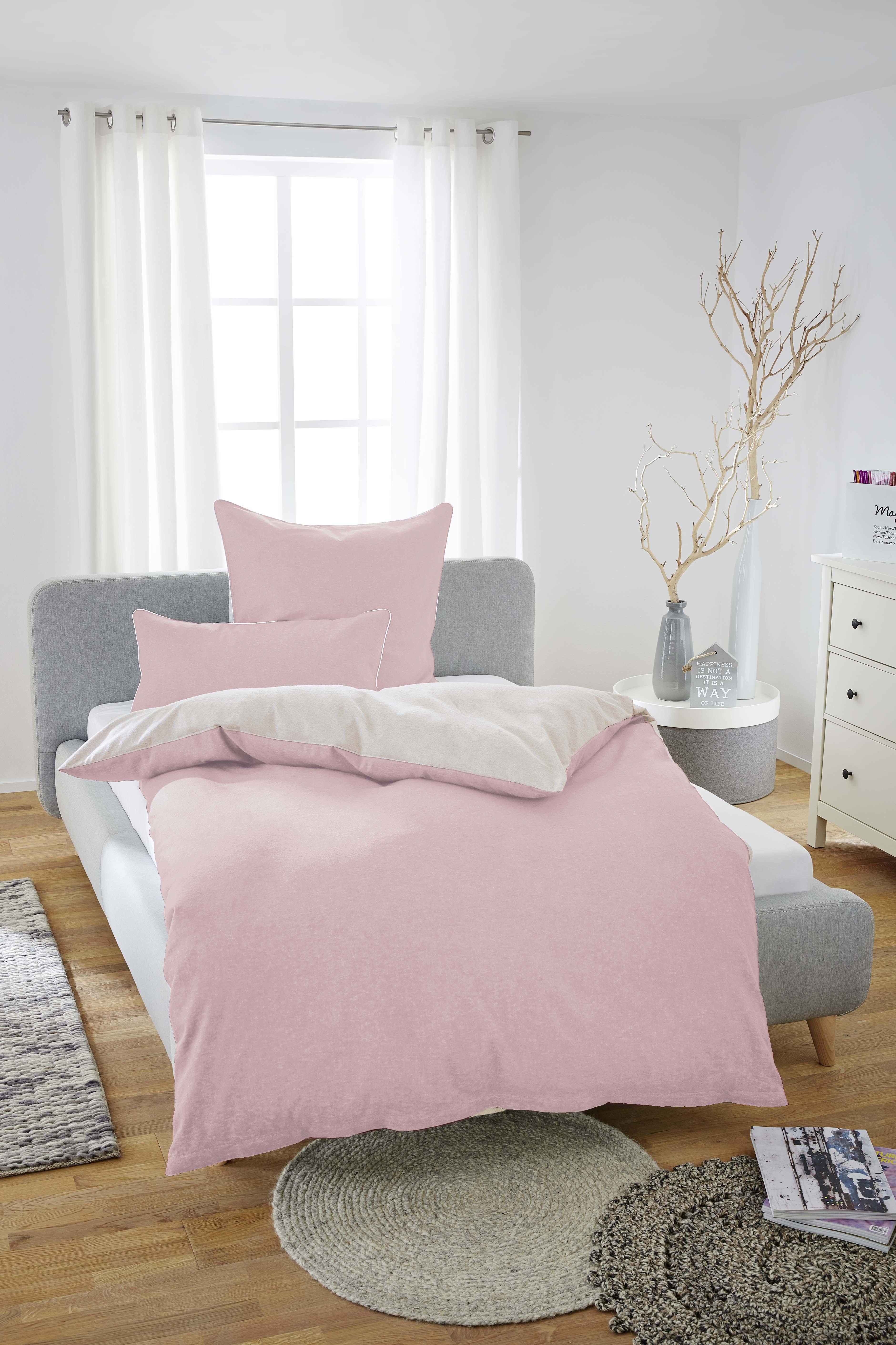 biberna melange flanell bettw sche nach ko tex standard 100 80 x 80 135 x 200 cm sturmgrau. Black Bedroom Furniture Sets. Home Design Ideas