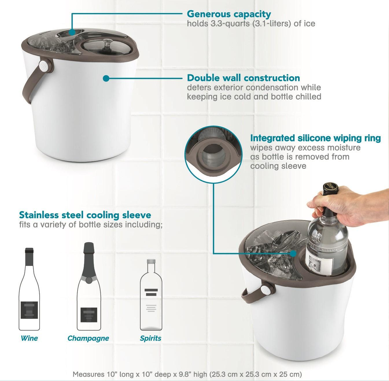 Amazon Com Polder Chill Station Combined Ice Bucket And