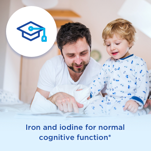 Iron and iodine for normal cognitive function
