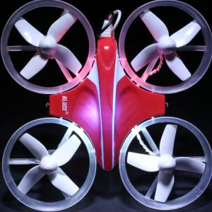 Indictrix RC drone with lit LED lights