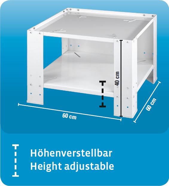 xavax stabiles waschmaschinen untergestell 60x60 cm universal sockel mit bodenfach erh hung. Black Bedroom Furniture Sets. Home Design Ideas