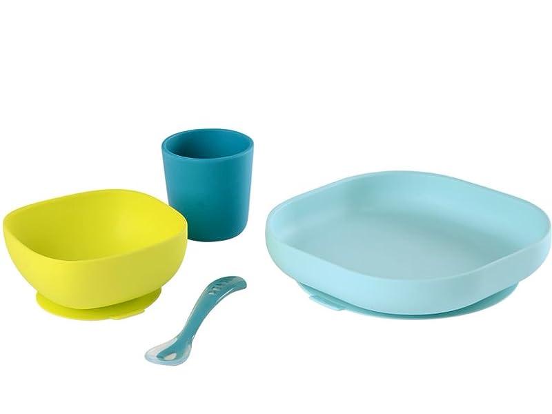 set vaisselle 100% silicone vue éclatée