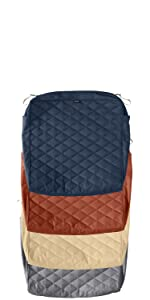 Montlake FadeSafe Quilted Patio Chair Seat Cushion Slip Cover