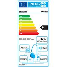Aspirapolvere multiciclonico, Etichetta energetica