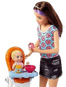Amazon Com Barbie Skipper Babysitters Inc Doll And
