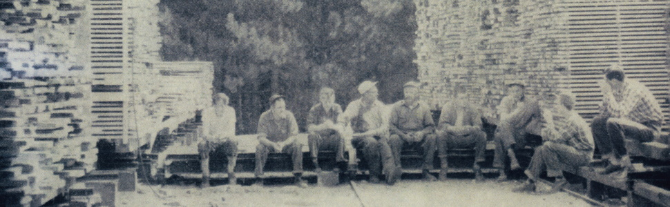 historical picture JK Adams workers during a break