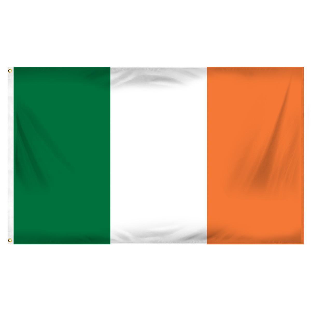 Happy St Patricks Day white Small Flag 3ft x 2ft