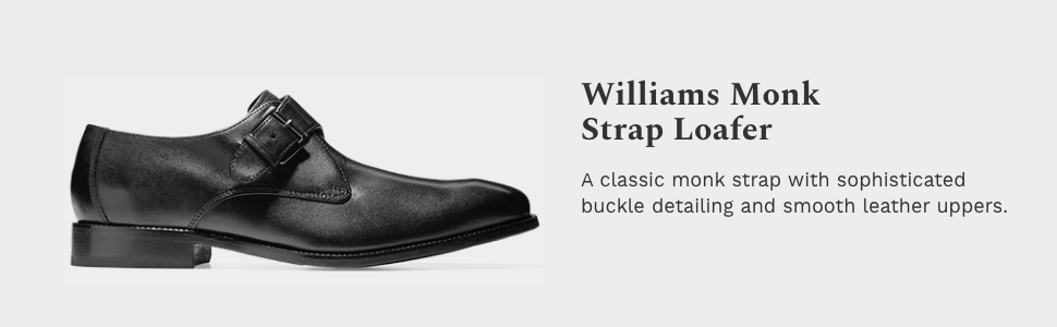 Williams II Monk-Strap Loafer Shoes