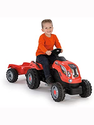 Smoby Farmer XL Rot mit Kind