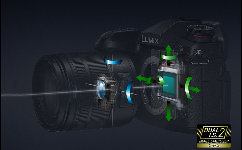 Panasonic Lumix G9LK mirrorless camera sensor shift image stablization