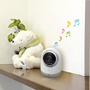 ビデオモニター ベビーモニター スマートビデオモニター デジタルカラー 違う部屋 育児 様子 子守唄 音量調節