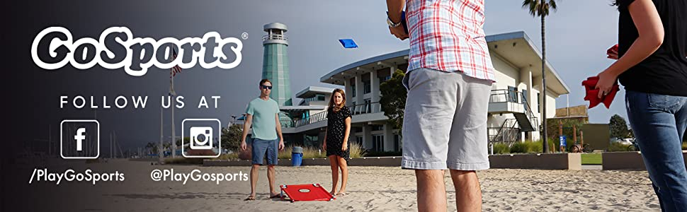 gosports portable foldable cornhole pvc bean bag toss game kids birthday party tailgate bbq lawn fun