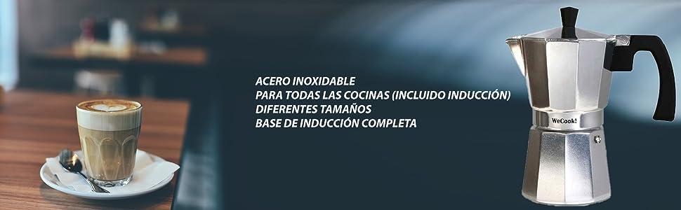 Wecook 40112 Cafetera Italiana De 12 Tazas Aluminio, Gris ...
